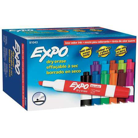 EXPO Dry Erase Marker,Chisel,PK12 81043 (Expo Neon Dry Erase Markers)