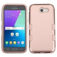 Galaxy J3 Luna Pro case by Insten Tuff Hard Hybrid Silicone Cover Case For Samsung Galaxy J3 (2017) - Rose Gold (+ USB Cable)