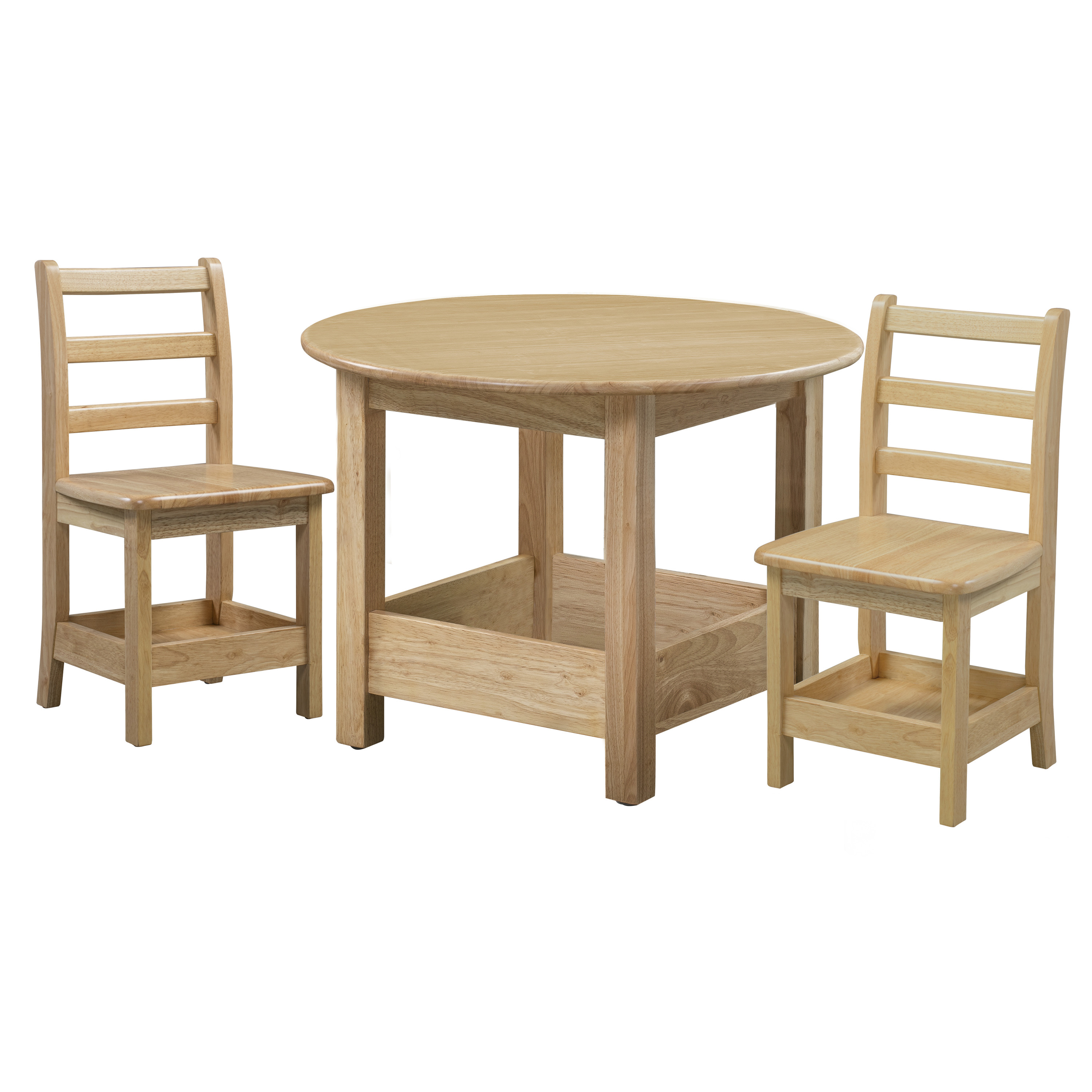 Sit n' Stash Round Table and Two 14in Chairs