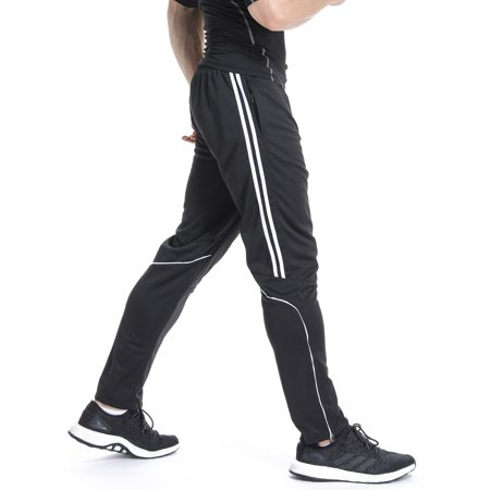 FITTOO Workout Pants Men Quick Dry Active Sports outdoor fitness Sweatpants Base Layer with Zipper Pockets Workout Pants Men