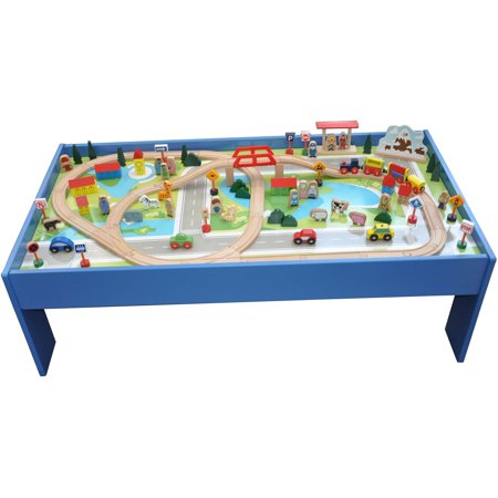 101-Piece Wooden Train Set with Table