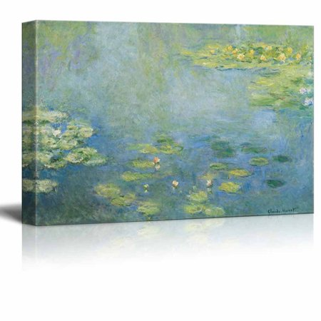 wall26 Water Lilies by Claude Monet - Canvas Print Wall Art Famous Painting Reproduction - 32
