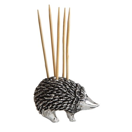 Creative Co-Op Toothpick Holder Silver Silver Toothpick Holder