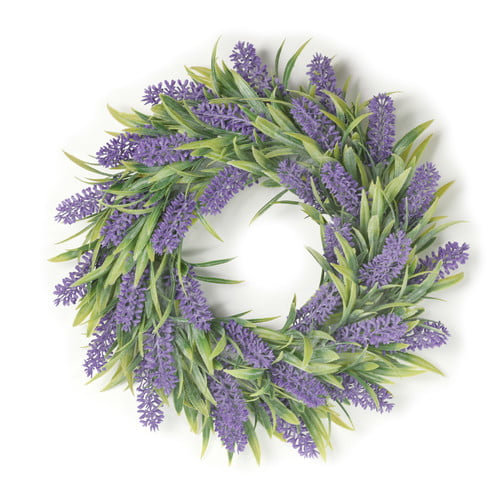Boston International Janice Lavender Floral 12 Inch Artificial Greenery Decorative Wreath