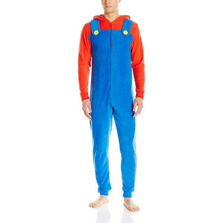 Nintendo Controller Halloween Costume (Nintendo Mario Yoshi Faux Zelda Donkey Kong Union Suit Pajama Costume, Mario, Size:)
