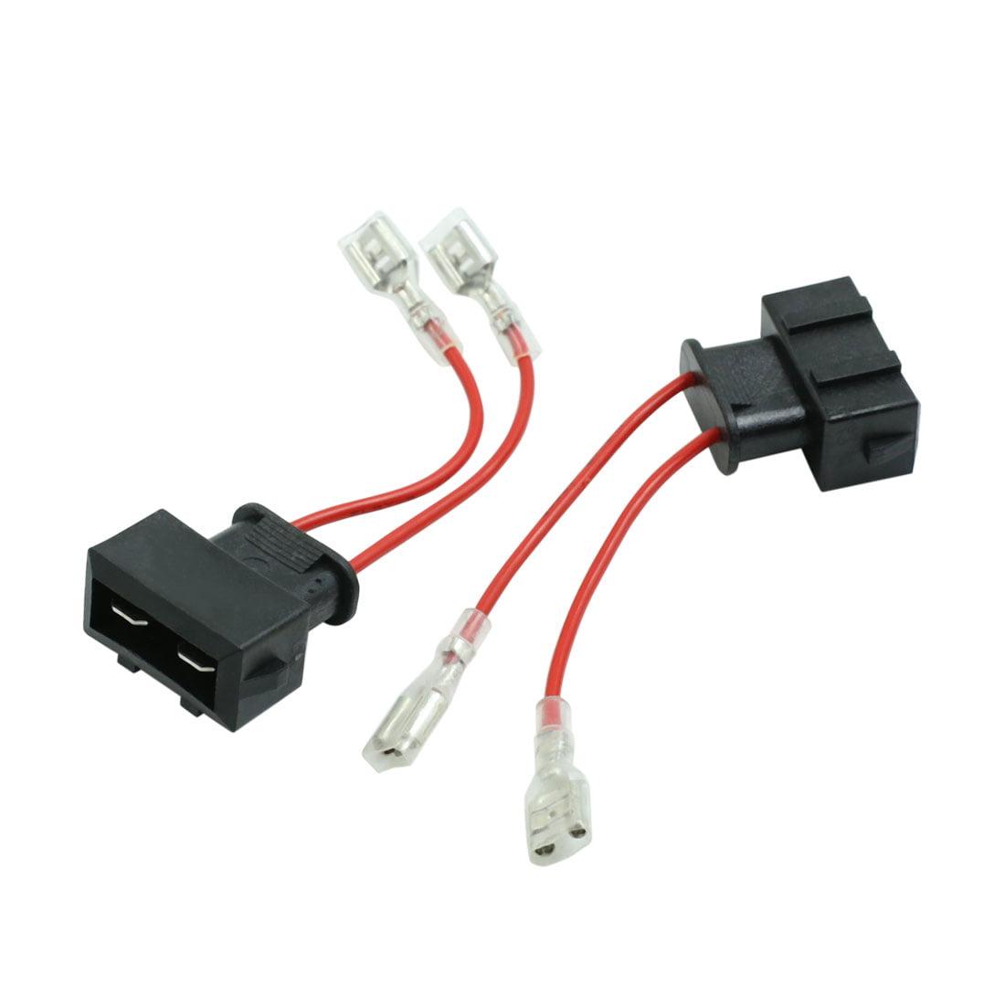 DC 12V Car Speaker Wire Harness Adapter Connector for Volkswagen Passat 2pcs - image 1 de 4