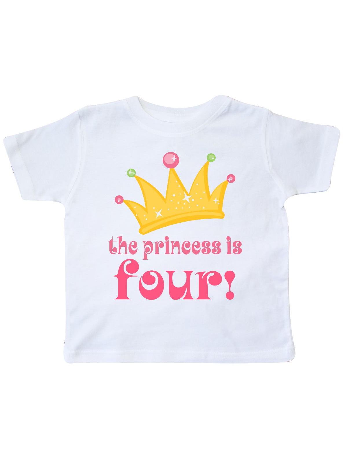 inktastic 4th Birthday Princess is 4 Toddler T-Shirt