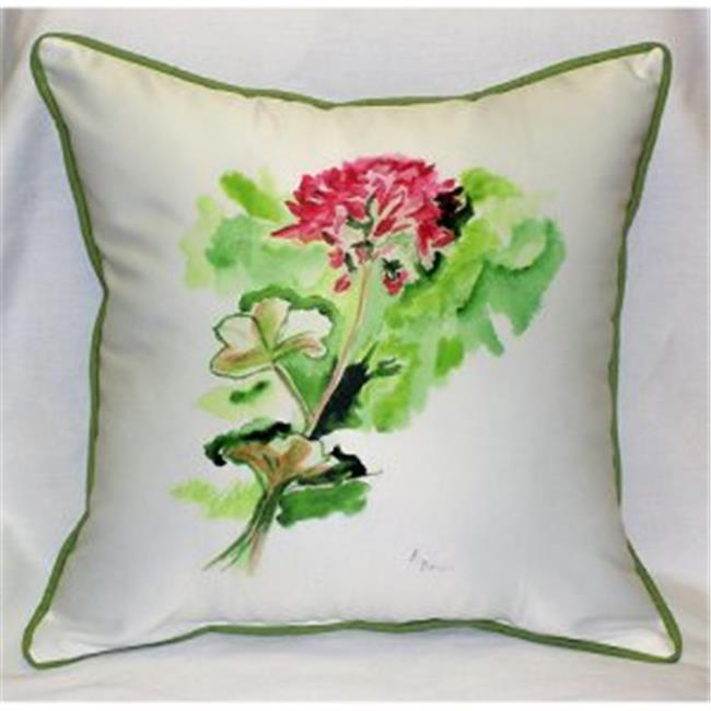 Betsy Drake ZP199 Geranium Throw Pillow, 22 x 22 inch