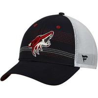 Arizona Coyotes Fanatics Branded Iconic Grid Trucker Adjustable Hat - Black/White - OSFA