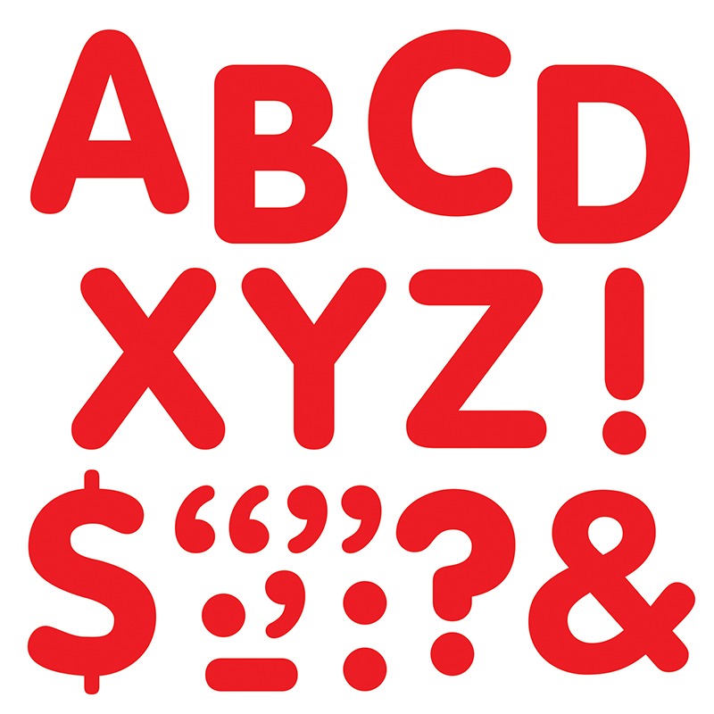 STICK-EZE 2 IN LETTERS & MARKS RED