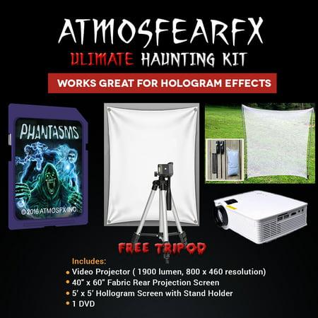 Halloween Atmosfearfx Phantasms Projector Kit, 1900 Lumen Projector with 800 x 460 - Halloween 1900