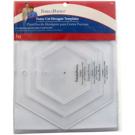 Fons & Porter Fussy Cut Templates-Hexagons - image 1 de 1