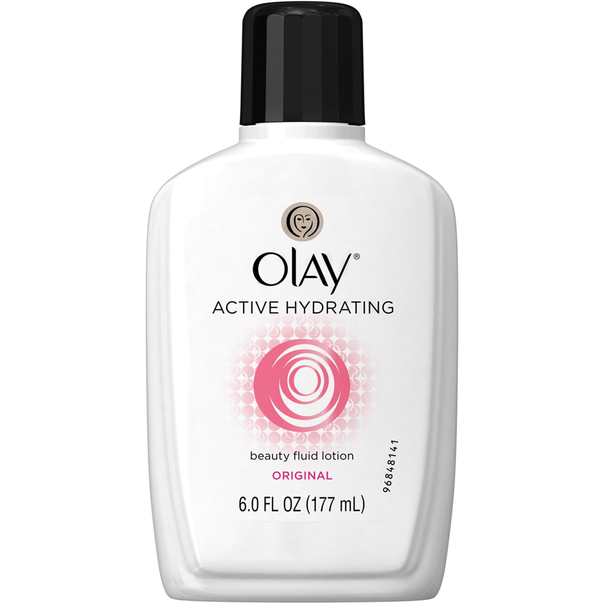 Olay Active Hydrating Beauty Facial Moisturizer Fluid Lotion, 6.0 fl oz