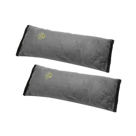Shoulder Strap Guards - 2pcs Gray Car Safety Strap Cover Pillow Seat Belt Pad Shoulder Cushion