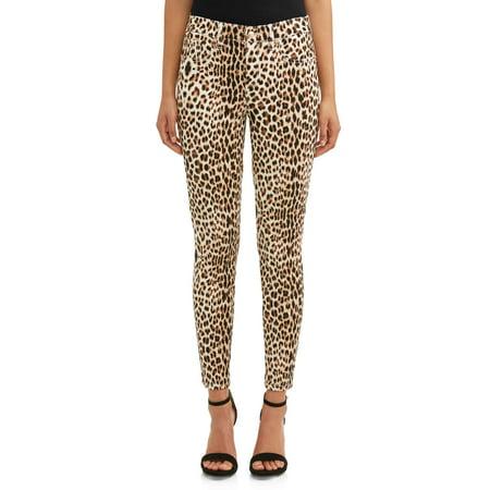 Sofia Skinny Mid Rise Stretch Ankle Jean Women's (Animal (Fleece Print Jeans)