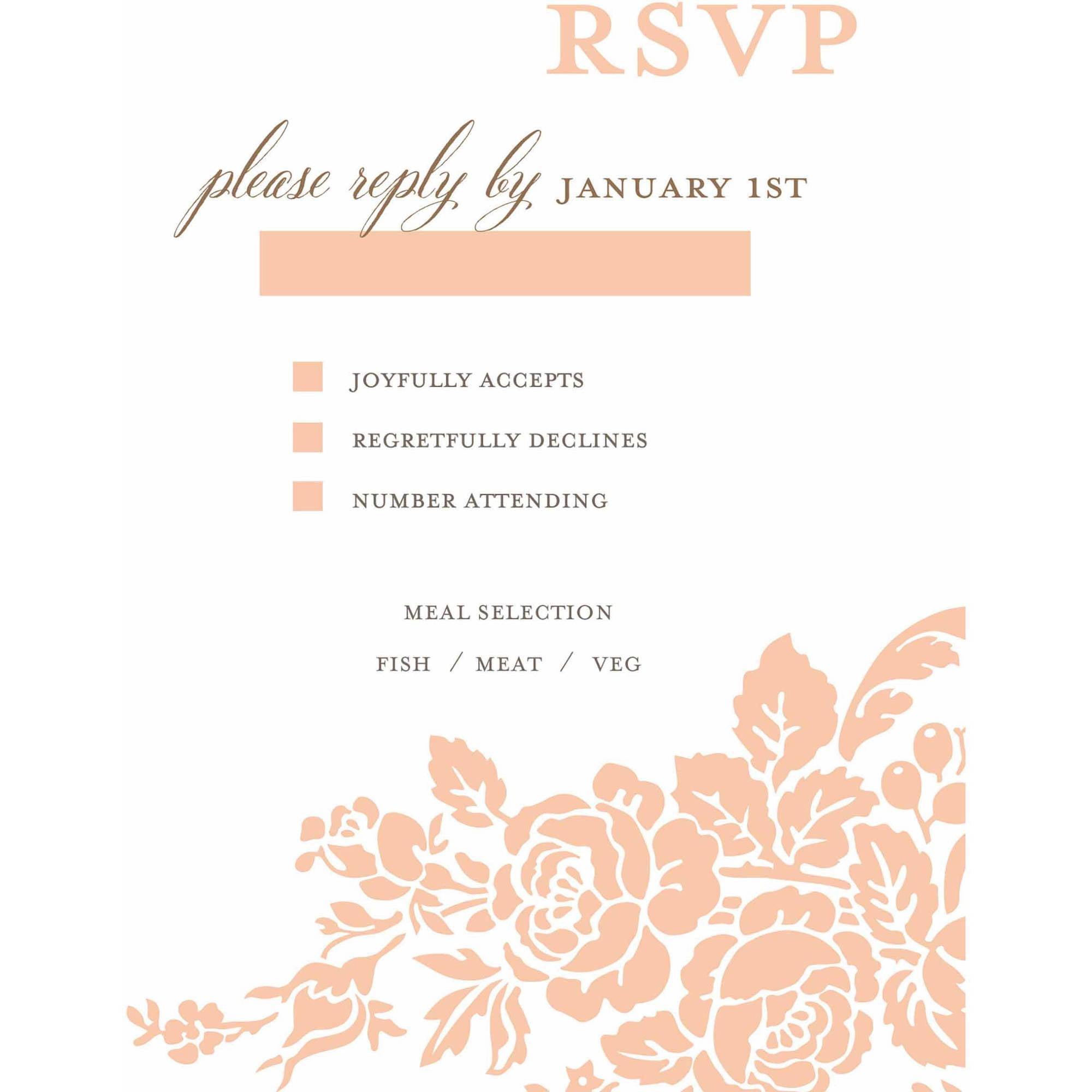 Classic Floral Standard RSVP