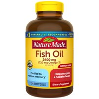Nature Made Fish Oil 1200 mg Softgels, 134 Count Value Size for Heart Health