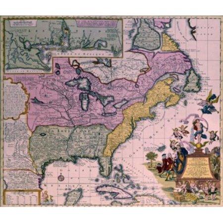 Posterazzi SAL900135921 North America Map Circa 1735 Poster Print ...