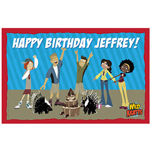 Personalized Wild Kratts Wild Birthday Placemat