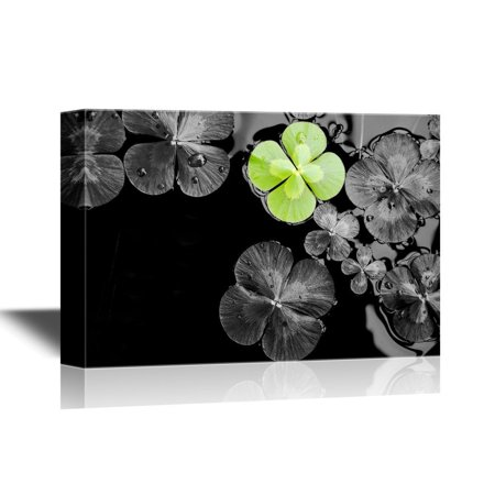 wall26 Canvas Wall Art - Four Leaf Luck Clovers - Gallery Wrap Modern Home Decor | Ready to Hang - 32x48 inches](Four Leave Clover)