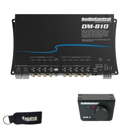 Dsp Processor (AudioControl DM-810 Premium 8 Input 10 Output DSP Matrix Processor, & ACR-3 Dash Remote )
