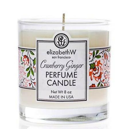 CRANBERRY GINGER Elizabeth W  Perfume Scented Jar Candle 8 oz