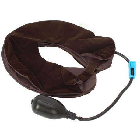 Zimtown Inflatable 3-Layered Vertebra Cervical Spine Tractor Neck Support Pillow Massage - image 1 de 7