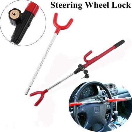 Anauto New Universal Auto Car Anti-Theft Security System Steering Wheel Lock SUV