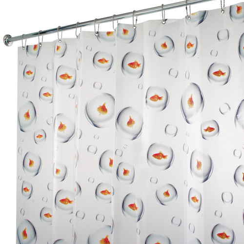 InterDesign PVC Bubblefish Shower Curtain