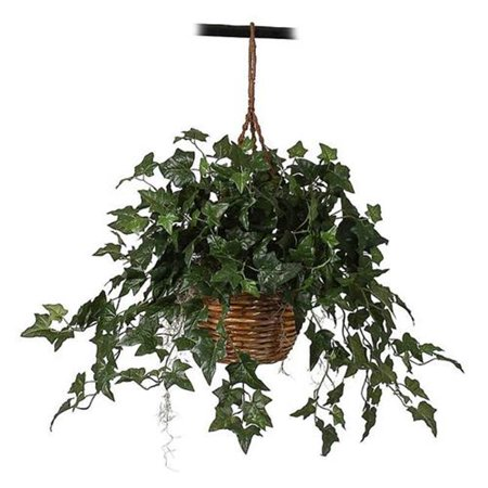 Nearly Natural 6507 English Ivy Hanging Basket Silk Plant - image 1 de 1