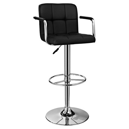 Powell Quilted Bar Stool with Gas Lift and Arms, Multiple Colors