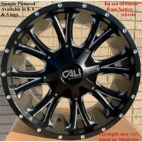"4 Cali Off-Road Americana 20x9 5x5.5"" 18mm Black/Milled Wheels Rims 20"" Inch"