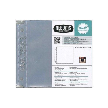 Refill Sleeves (Instagram Albums Made Easy Photo Sleeve Protectors 10/Pkg-(1) 4)