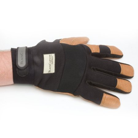 BLACKCANYON OUTFITTERS Large Flex Back and Leather Grip Work Gloves 86420/L Multi-Colored