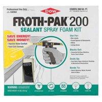 Froth-Pak 346963 Cream Insulating Spray Foam Sealant Kit, 41 lb.