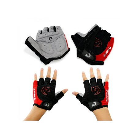Fingerless Bike Gloves - MarinaVida Men Sports Cycling Gloves, Half Finger Gloves, MTB Bicycle Gel Padded Fingerless Gloves