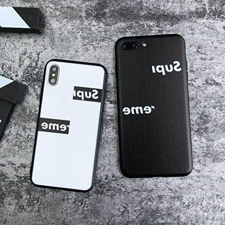 watch 34b79 ce156 sup x cdg box logo softshell silicone case for iphone 6/6 plus/iphone 7/7  plus/iphone 8/8 plus/iphone x/xs/xr/xs max with matte finish luxury ...