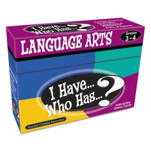 Teacher Created Resources I Have, Who Has Language Arts Game Grade 3-4 - Educational (7816_40)
