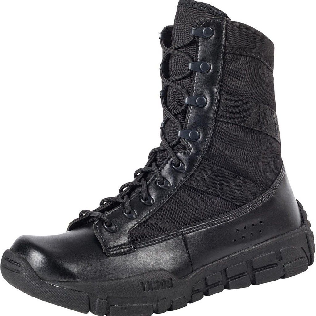 """rocky tactical boots mens 8"""" c4t military duty lightweight black ry008"""
