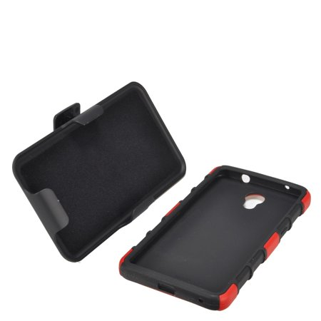 Insten Car Armor Stand Dual Layer Hybrid Case with Holster For ZTE Prestige - Red/Black - image 2 of 4
