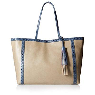 Big Buddha women's andie large tote, grey/blue