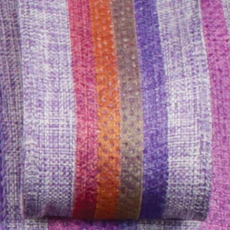Colorful Striped Surprise Purple Wired Burlap Craft Ribbon 1.5