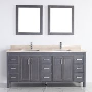 Bauhaus Bath Coraline 75'' Double Bathroom Vanity Set with Mirror