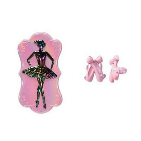 Ballet Dancer Layon Cake Topper PLUS 24 Ballet Shoe Cupcake Rings - National Cake Supply