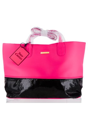 JUICY COUTURE  JUICY COUTURE PINK  BLACK TOTE BAG Miscellaneous