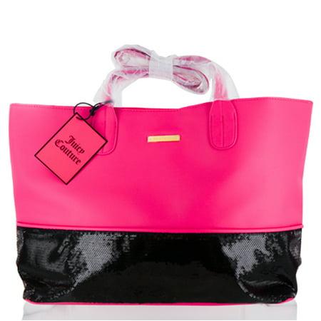 JUICY COUTURE  JUICY COUTURE PINK  BLACK TOTE BAG Miscellaneous Black Demi Handbag