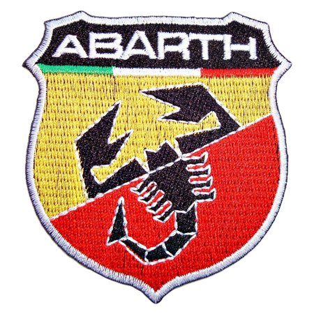 ABARTH MODERN 3 x 2.5 inches logo Iron Sew On Cotton Patch cars Tuning Fiat Italy by Patchmaniac (Looney Tunes Iron On Patches)