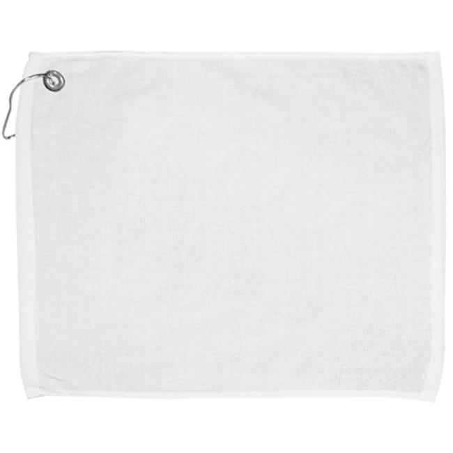 Bulk Buys 15x18 100 percent Cotton Velour White Hand Towel with Corner Grommet and Hook - Case of 144