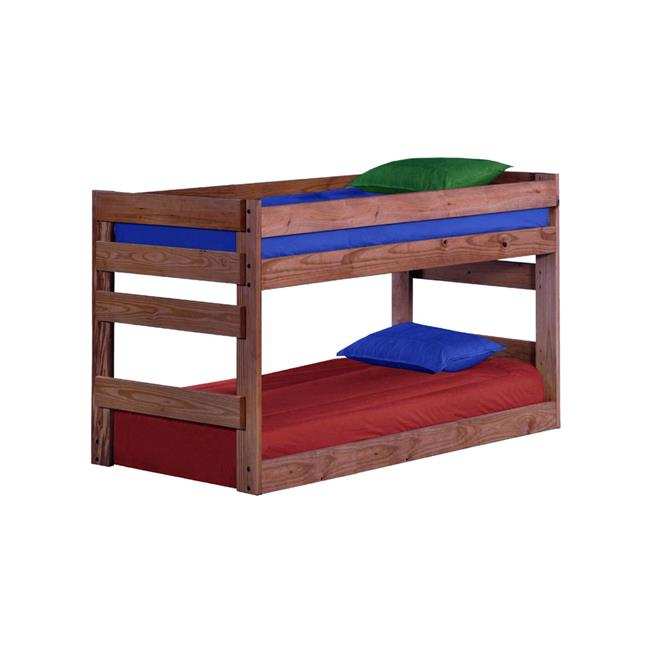 Chelsea Home Furniture 31Gin4003BXL Twin Extra Large Over Junior Bunk Bed with Queen Rails, Ginger