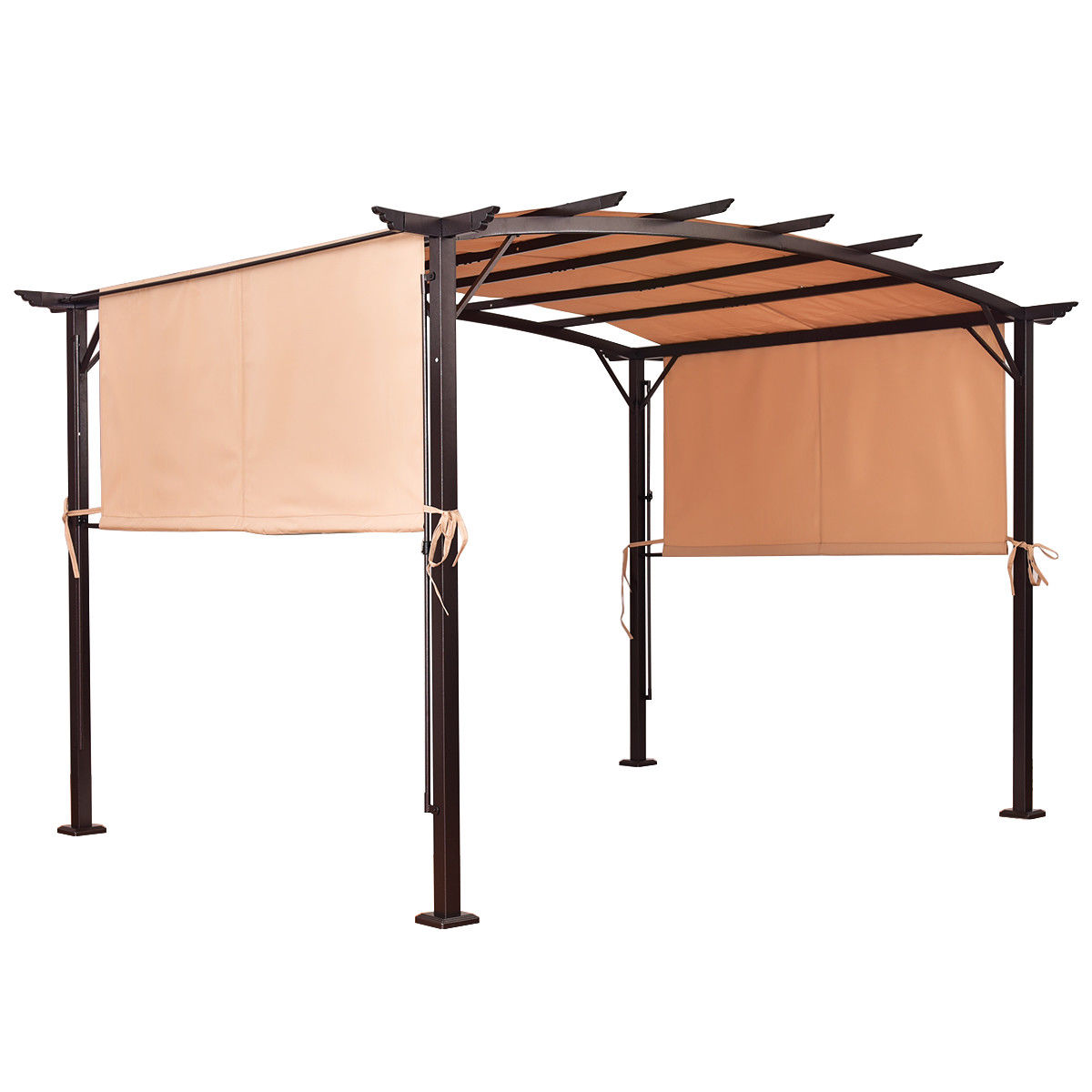 Costway 6.7'x17' Universal Replacement Canopy Cover Pergola Structure Sun Awning by Costway